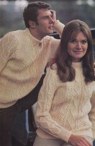 Image of Aran Cabled Sweater Knitting Pattern