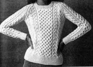 Pictures of Aran Knit Sweater Pattern
