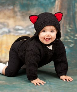 Baby Black Cat Knitting Hat Pattern Images