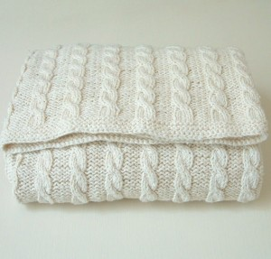 Baby Blanket Cabled Knitting Pattern Instruction Photos