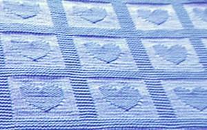 Baby Blanket Heart Knitting Pattern Photos