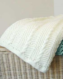 Baby Blanket Knitting Cable Pattern Image