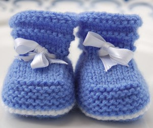 Baby Booties Knitted Pattern Picture
