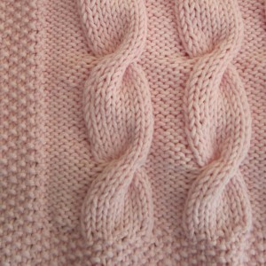 Baby Cable Blanket Knitting Pattern Picture