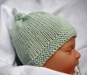 Photos of Baby Hat with Top Knot Knitting Pattern
