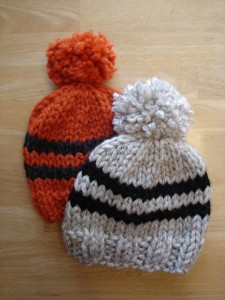 Picture of Baby Rugby Hat Knitting Pattern