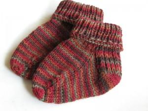 Baby Socks Knitting Pattern Photo