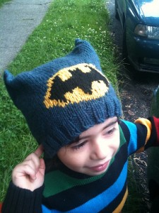 Batman Knitting Hat Pattern Instruction Pictures