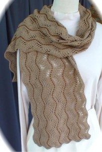 Beaded Lace Scarf Knitting Pattern Pictures