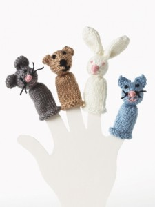 Bear Bunny Kitty and Mouse Finger Puppet Pattern Photos