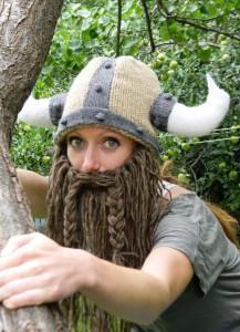 Bearded Viking Helmet Hat Knitting Pattern Photos