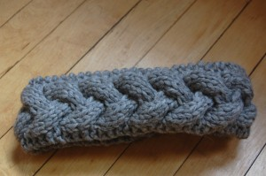 Braided Cable Knit Headband Pattern Picture
