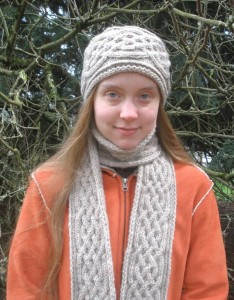 Braided Cable Knit Scarf Pattern Photos
