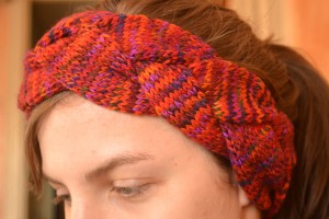 Pictures of Braided Headband Knitting Pattern
