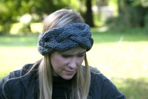 Braided Knit Headband Pattern Instruction Images