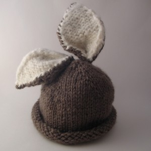 Brair Bunny Baby Hat Knitting Pattern Image