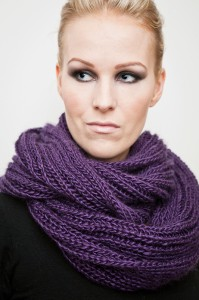 Pictures of Brioche Infinity Scarf