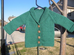 Buttoned Baby Sweater Knitting Pattern Photo