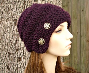 Buttoned Cloche Hat Knitting Pattern Photos