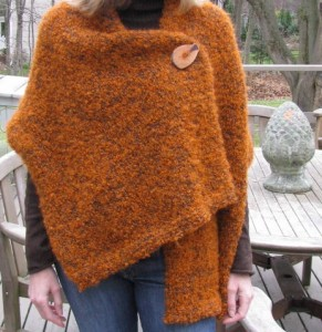 Buttoned Shawl Knitting Pattern Image