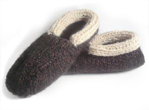 Images of Cabin Slippers For Men Loom Knitting Tutorial