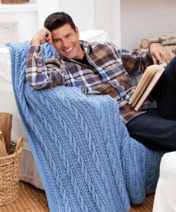Photo Cable Knit Afghan Pattern