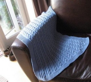 Pictures of Cable Knit Baby Blanket Pattern Tutorial