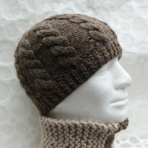 Photos of Cable Knit Men's Hat Pattern