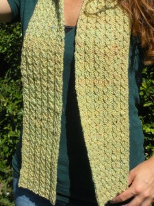 Cable Knit Scarf Pattern Instruction Picture