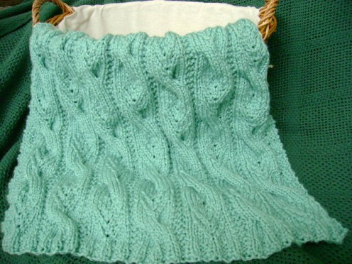Cable Knit Baby Blanket Patterns | A Knitting Blog