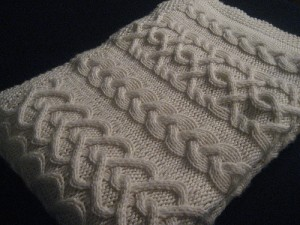 Cabled Baby Blanket Knitting Pattern Images