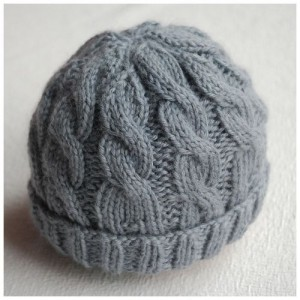 Cabled Baby Hat Knitting Pattern Photos