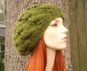 Cabled Beret Hat Knitting Pattern Pictures