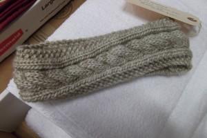 Cabled Knit Headband Pattern Instruction Image