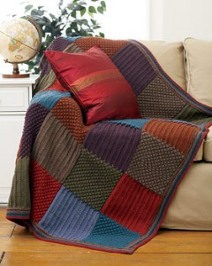 Checkered Knit Blanket Afghan Pattern Pictures