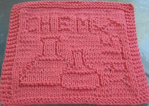 Picture of Chemistry Knit Dishcloth Pattern