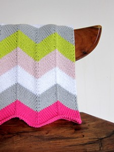 Chevron Baby Blanket Knitting Pattern Picture