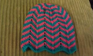 Chevron Baby Hat Knitting Pattern Images
