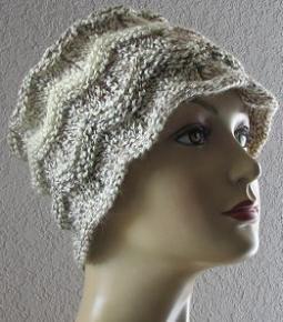 Chevron Hat Knitting  Pattern Picture