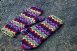 Photos of Chevron Knit Mitten Pattern