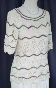 Chevron Lacey Sweater Knitting Pattern Photos