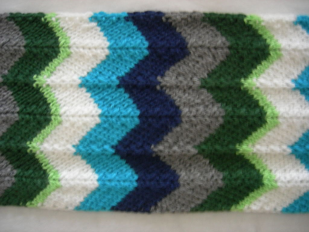 Chevron Scarf Knitting Pattern | A Knitting Blog