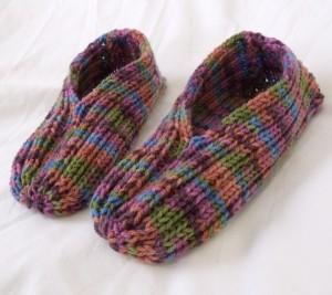 Children's Slipper Knitting Pattern Images