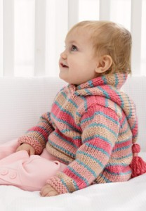 Chunky Baby Hoodie Sweater Knitting Pattern Picture
