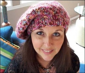 Chunky Beret Knit Hat Pattern Photos