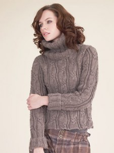 Image of Chunky Cable Knit Sweater Pattern