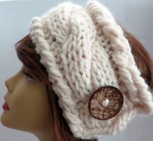 Chunky Headband Ear warmer Cable Knitting Pattern Images