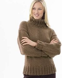 Pictures of Chunky Knit Turtleneck Sweater Pattern