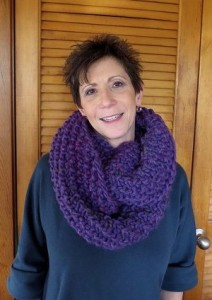 Picture of Chunky Orchid Infinity Cowl Pattern