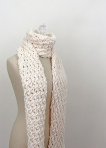 Chunky Scarf Knitting Pattern Tutorial Images